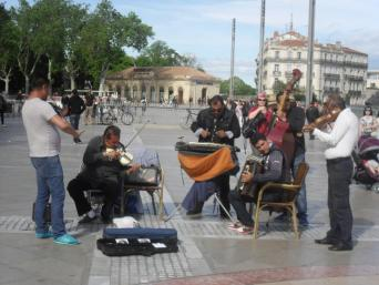 Live music on the Place de Comedie